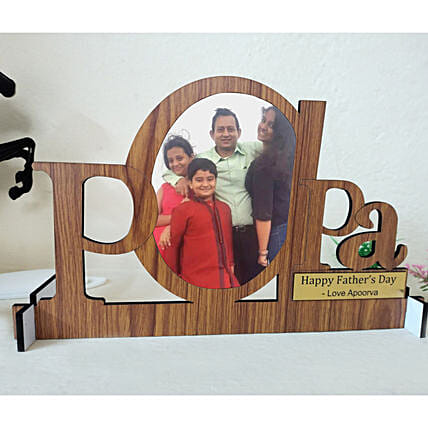 Personalised Papa Cut Out Table Top