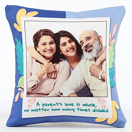 Photo Cushion for Parents Online:Send Gifts for Parents Day