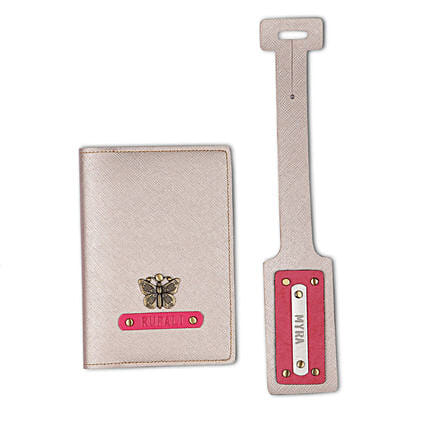 Online Combo Passport Cover And Luggage Combo