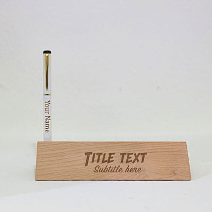 personalised pen in nameplate online