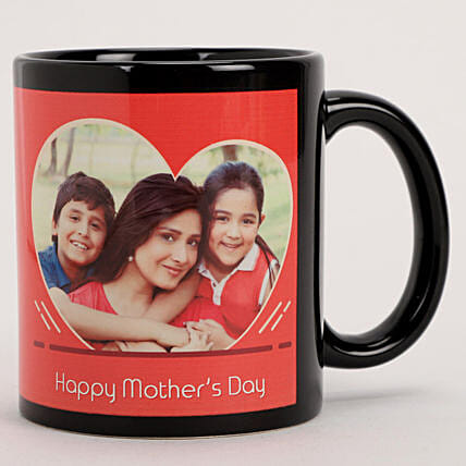 Online Personalised Red Heart Mug For Mother's Day:Mugs for Mother's Day