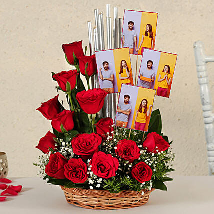 Online Customised Red Roses:Flowers N Personalised Gifts