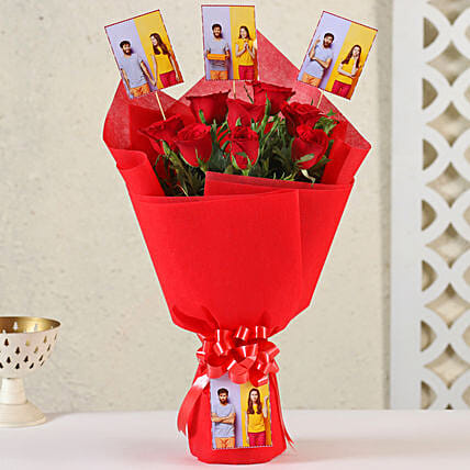 Online Customised Roses Bouquet:Flowers N Personalised Gifts