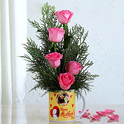 Personalised Roses Mug For Mom