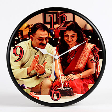 photo printed wall clock:Personalised Gifts for Parents
