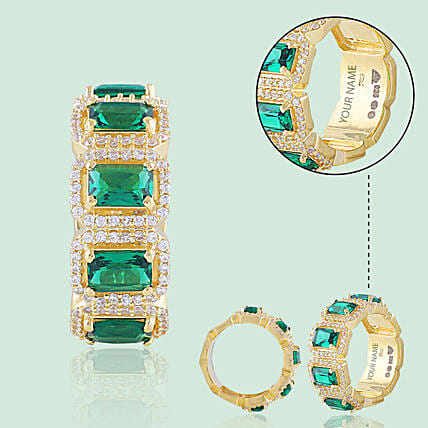 Green Gold Plated Ring Online
