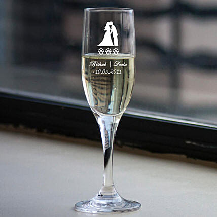 Champagne Glass:Personalised Glassware