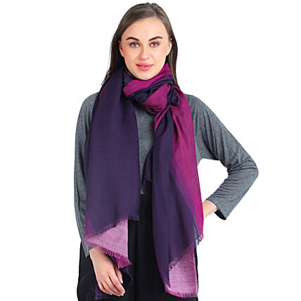 stylish and personalised ombre stole online:Scarves And Stoles