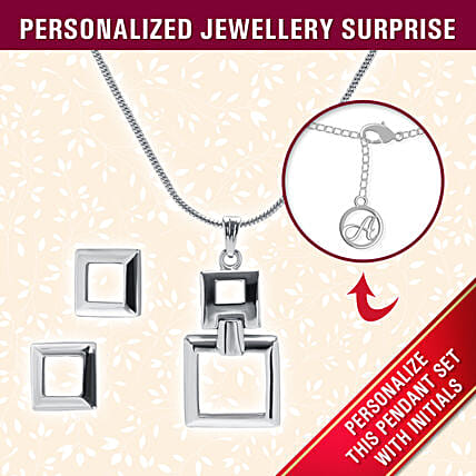 square design pendant set online