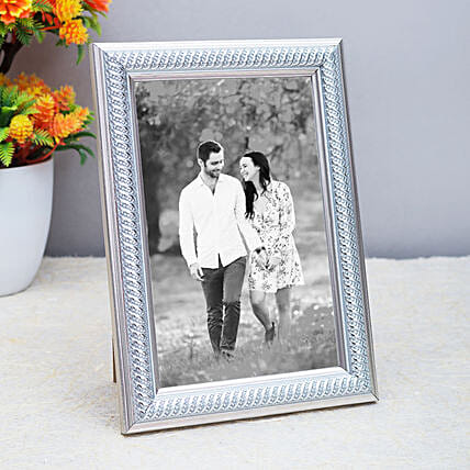 Personalised Silver Toned Table Top Photo Frame