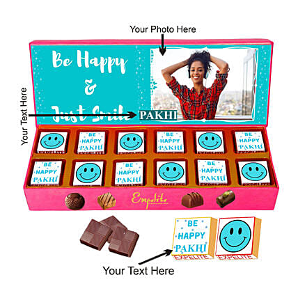 Personalised Smile Please Chocolate Gift Box