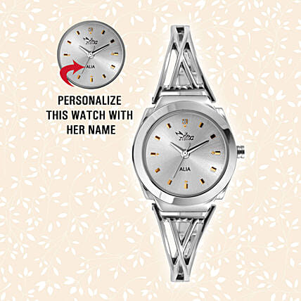 Personalised Snazzy Silver Watch