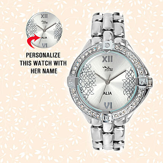 Sliver Sparkling Valentine's Watch For Her