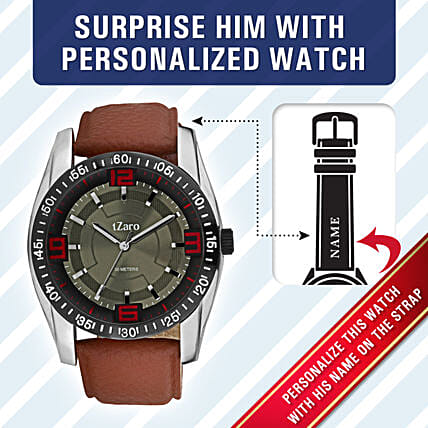 sporty design personalized watch