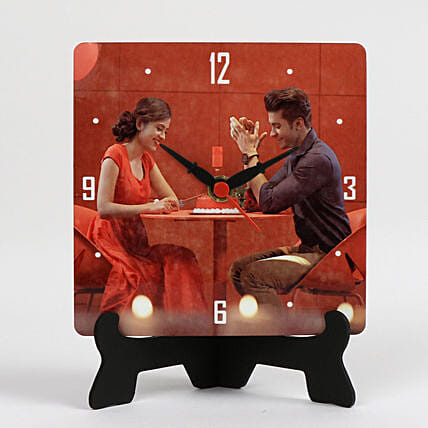 Personalised Table Clock For Couples:Personalised Photo Clock