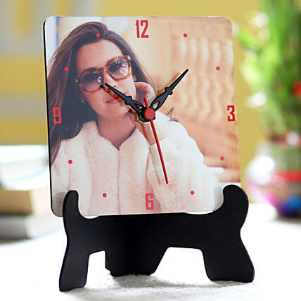 Online Personalised Table Clock For Her:Personalised Photo Clock