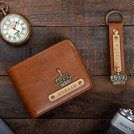 Customised Wallet And Keychain:Accessories for Him