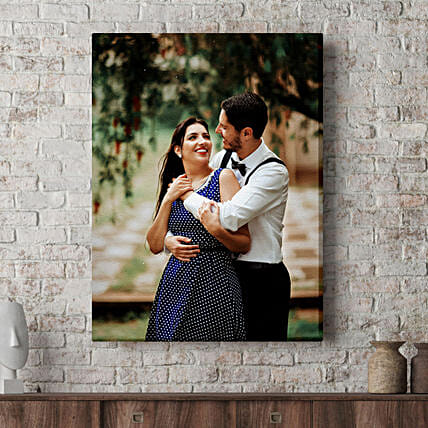 Personalised Tear Resistant Portrait Canvas Frame:Personalised Gifts For Anniversary