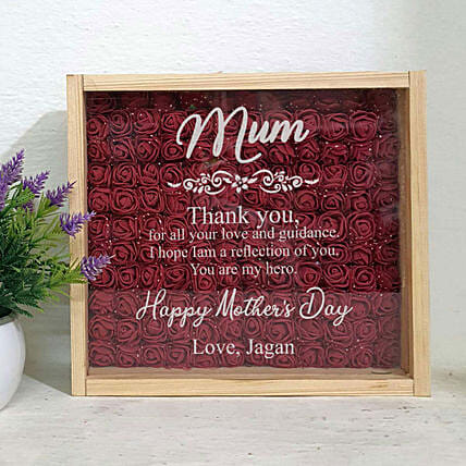 thank you mum printed showpiece:Personalised Engraved for Mothers Day