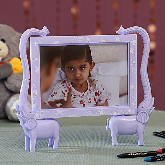 Personalised Violet Elephant Photo Frame