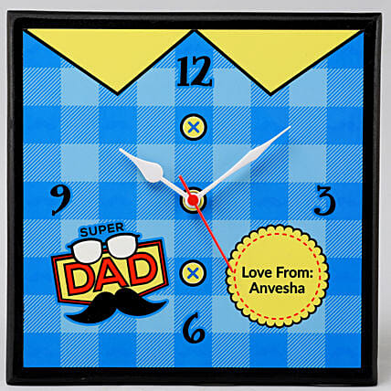 personalised fathers day clock