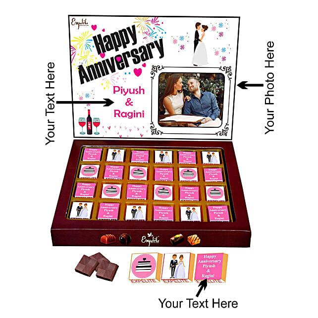 Personalised Anniversary Chocolate