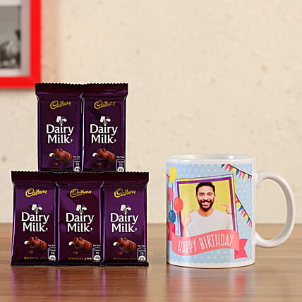 personalised mug with chocolates online
