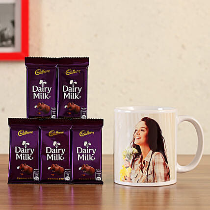 personalised mug with chocolates