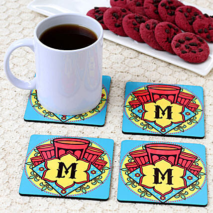 tea quote printed coaster set