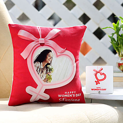 Online Photo Cushion For Women's Day:Womens Day Combos
