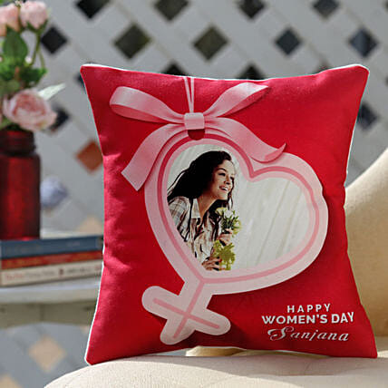 Women's Day Cushion Online:Womens Day Personalised Gifts
