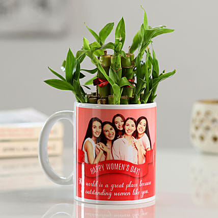 Photo Mug with Plant Online For Her