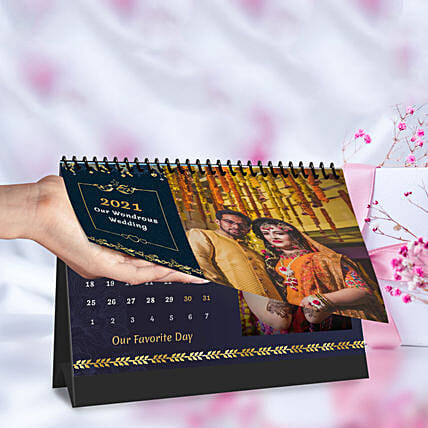 Personalised Wondrous Wedding Calendar