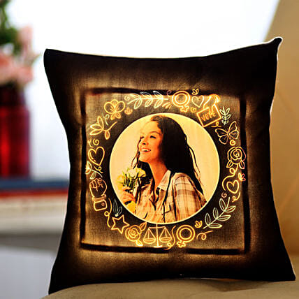LED Women's Day Cushion Online:Personalised Led-cushions