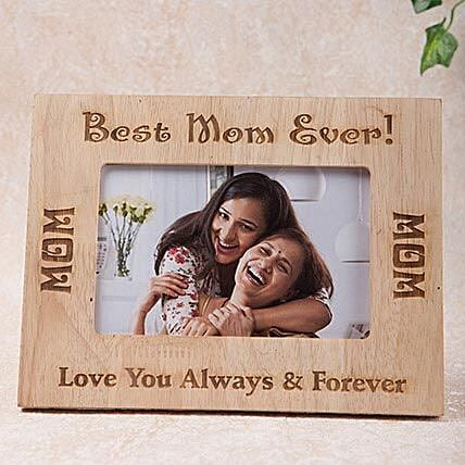 Personalized Best Mom Photo Frame Gift Customised Wooden