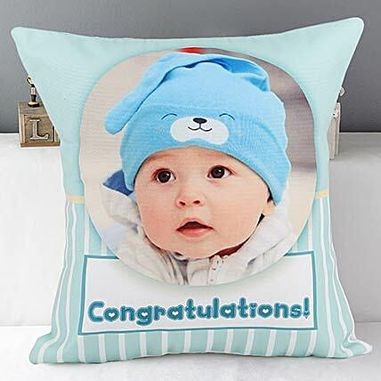 personalized photo cushion:Send Gifts for Newborn