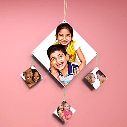 Personalized hanging photo frame