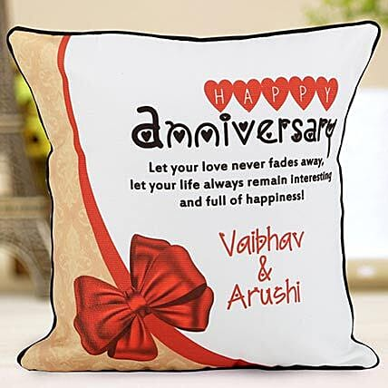 personalised anniversary cushions