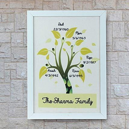 Personalized family tree frame