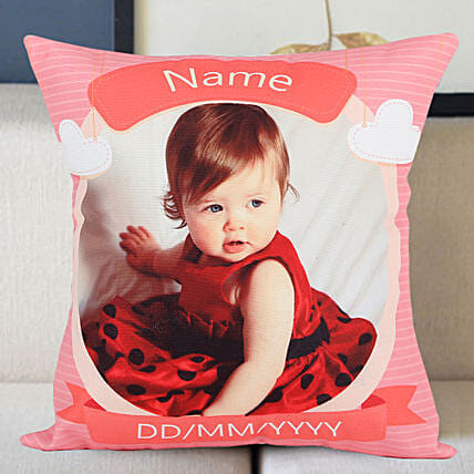 Customised cushion with photo:1st Birthday Gifts
