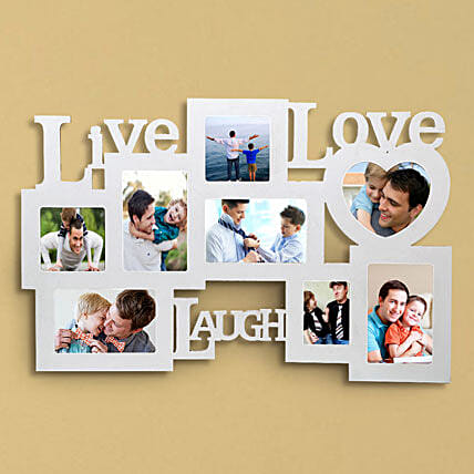 Personalized live love laugh frame:Personalised Photo Frames for Wedding Gifts
