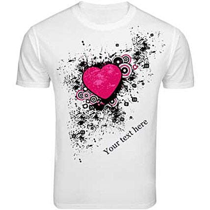 Personalized Message T-shirt-Funky print white T-shirt