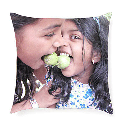 Print Cushion-gifting them this comforting and personalized 12 x 12 inches cushion:Send Personalised Gifts to Barshi