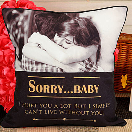 Personalised sorry quote cushion