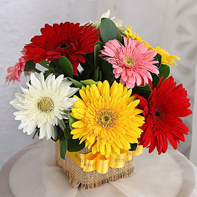 Petite Mixed Gerbera Floral Vase