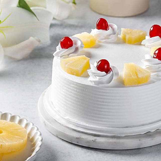 Pineapple Cake 1Kg Eggless