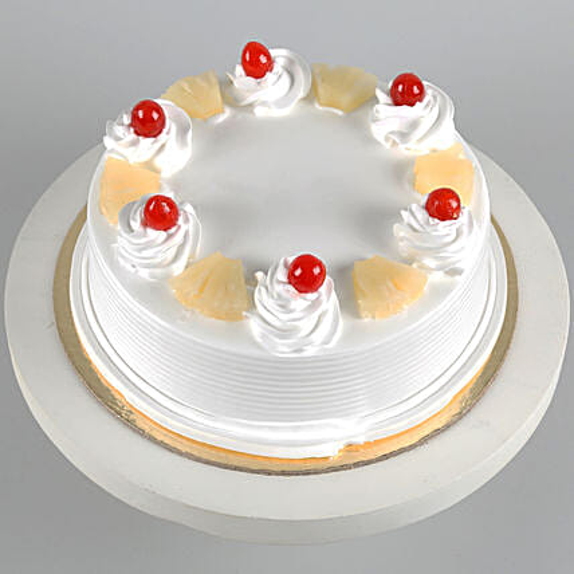 Pineapple Cake 2Kg Eggless