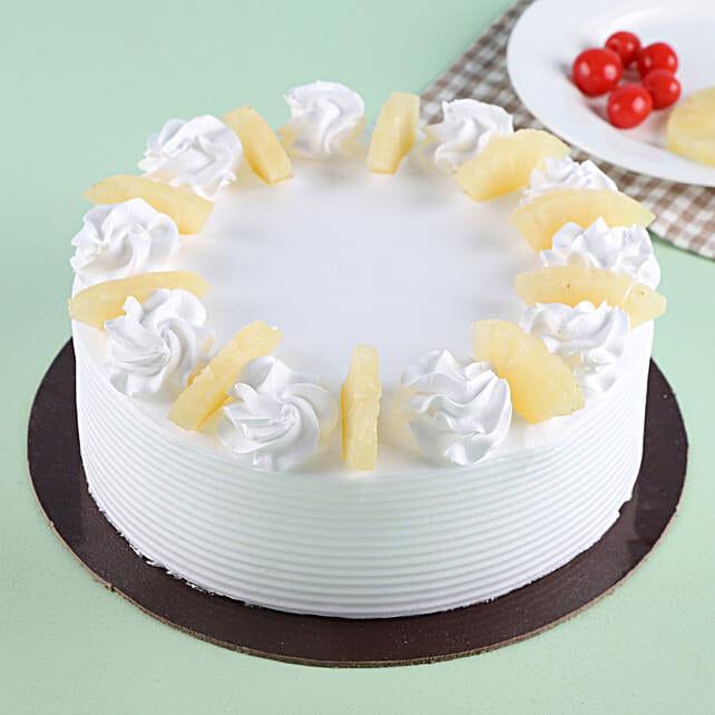 Pineapple Round Cake 1kg Eggless