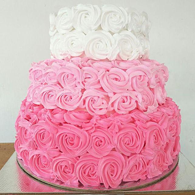 pink floral cake online