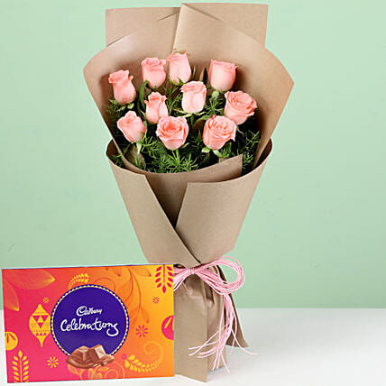 Flower and Chocolate  Combo Online